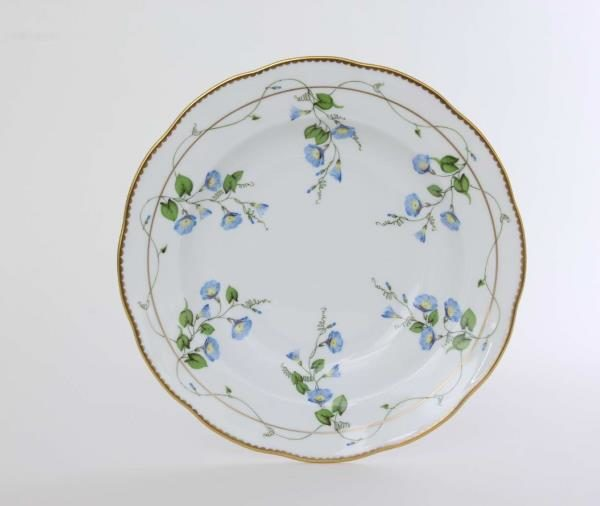 20504-0-00 NY Soup Plate This pattern is painted with the famous Nyon - Morning Glory decor. The Nyon - Morning Glory decor with 24 karat Gold is an ideal ornament for any Household or Office.