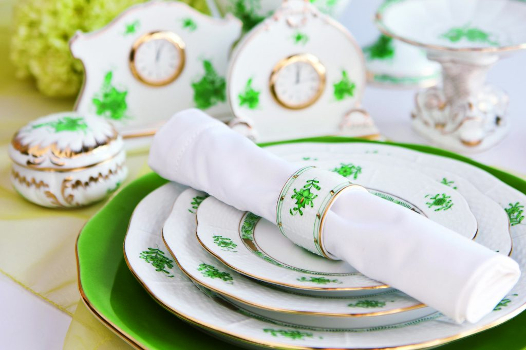 Apponyi Chinese Bouquet Green Set