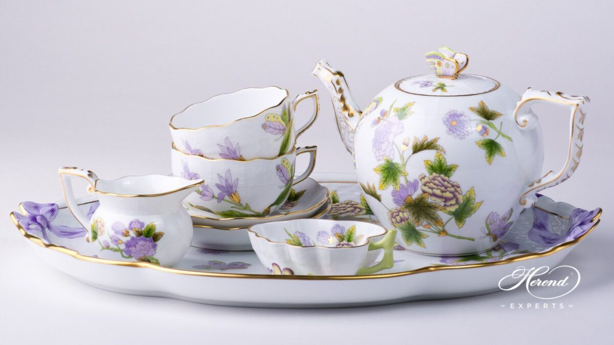 Evict1-Herend-tea-set for 2