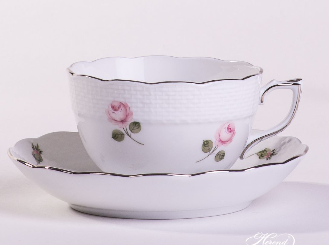 VIENNA ROSE PLATINUM – TEA-SET FOR 2 PERSONS