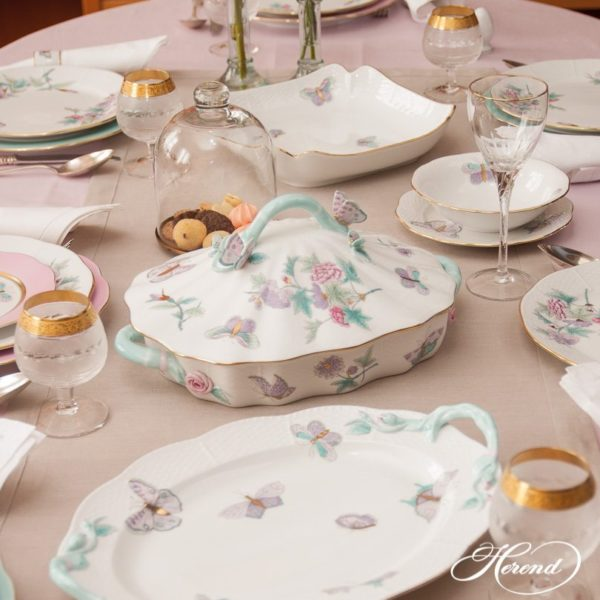 Dinner Setfor6 Persons- Herend Royal Garden Turquoise EVICT2