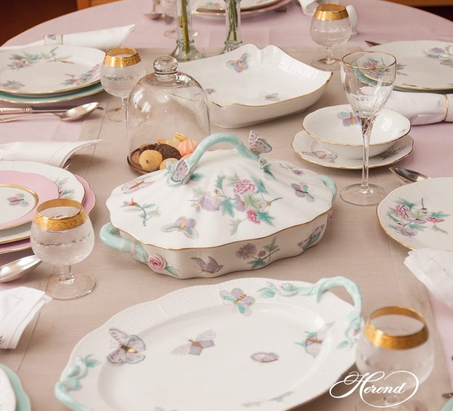 Dinner Set for 6 Persons - Herend Royal Garden Turquoise EVICT2