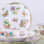 vbo-place-setting-Herend porcelain Place Setting 6 Pieces - Herend Queen Victoria VBO design.
