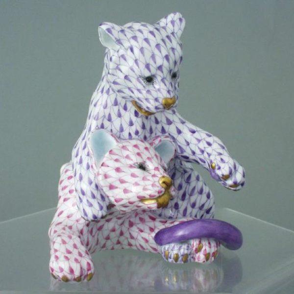 15358-0-00 VHL+VHP Lion Cubs Fishnet Purple + Pink