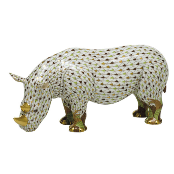 16038-0-00 Rhino Animal Figurine - Reserve Collection