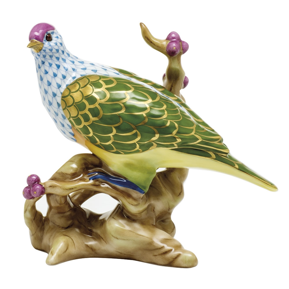 16034-0-00 VHSP115 Herend Figurine Fruit Dove Reserve Collection
