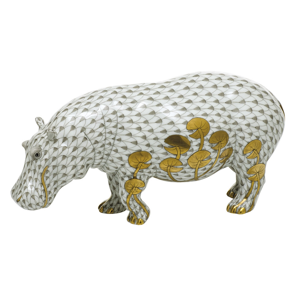 Enhanced by accents of 24k gold. All hand painted designs by master artisans. Superior quality white porcelain. Dimensions: 4 inches high x 8 3/4 inches long. Limited Edition Size = 150