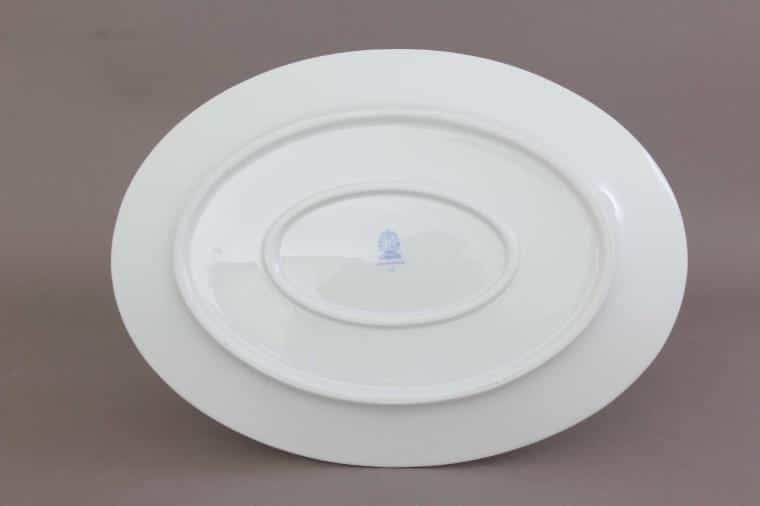 Herend Fishnet Oval Platter, Blue Item #: VHNKB02102000