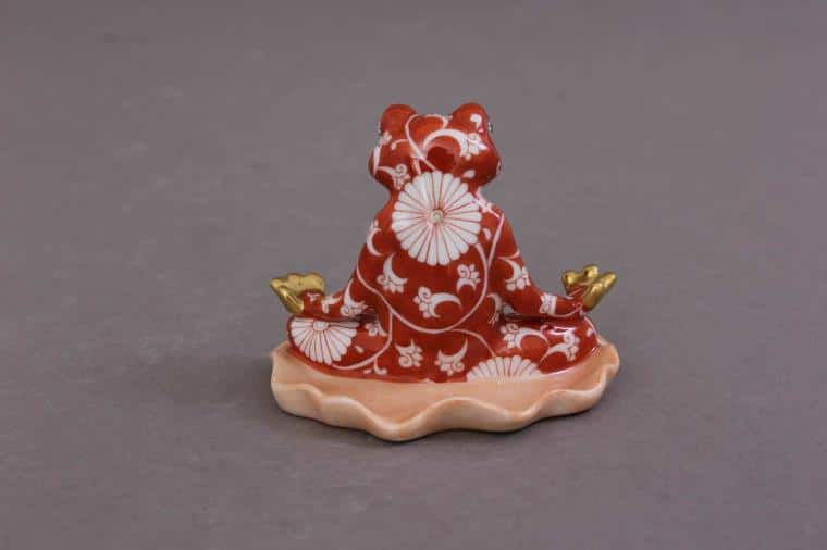 05793-0-00 CHRY Herend Yoga Frog Chinese Zodiac