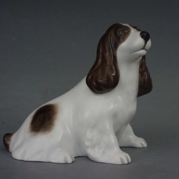 15455-0-00 Black Dots Spaniel Natural Anmal Figurine Dog