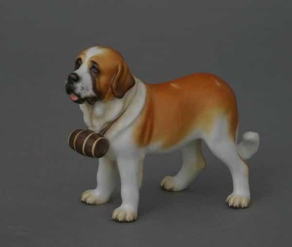 15871-0-00 MCD 15871-0-00 MCD 15871-0-00 MCDSt. Bernard dog - Matt Natural Animal Dog Figurine - Matt Natural decor - comes with gift box + certificate of origin
