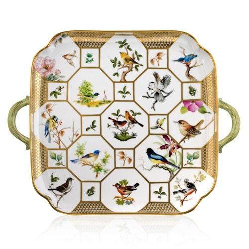 HEREND RESERVE BIRDS OF HEREND TRAY SP848-2