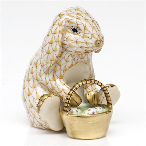 Herend Bunny With Basket Easter Figurine VHJM 05850-0-00