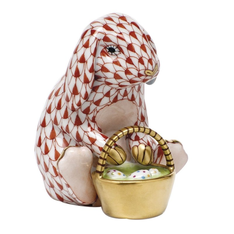 HEREND EGGSTRAVAGANT RABBIT FIGURINES