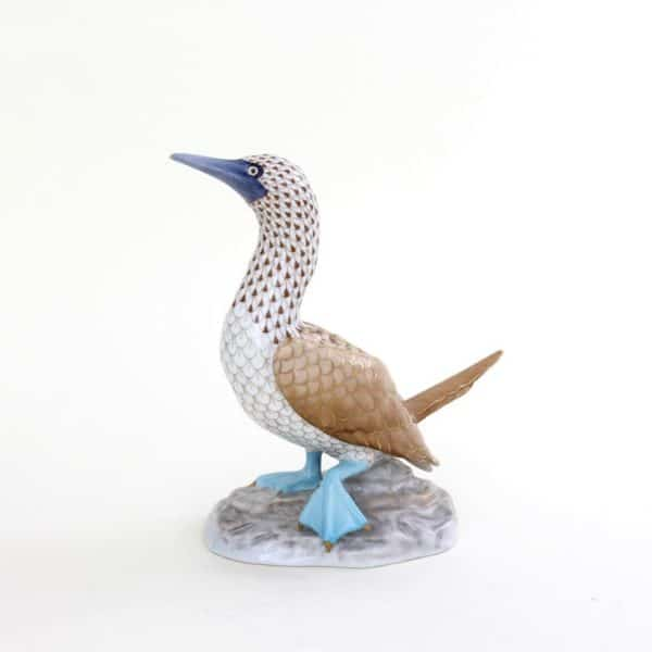 Herend Blue-footed Booby Figurine - Reserve Collection Limited Edition to 150 pcs. - Masterpiece, comes with gift box, certificate of origin and free shipping service