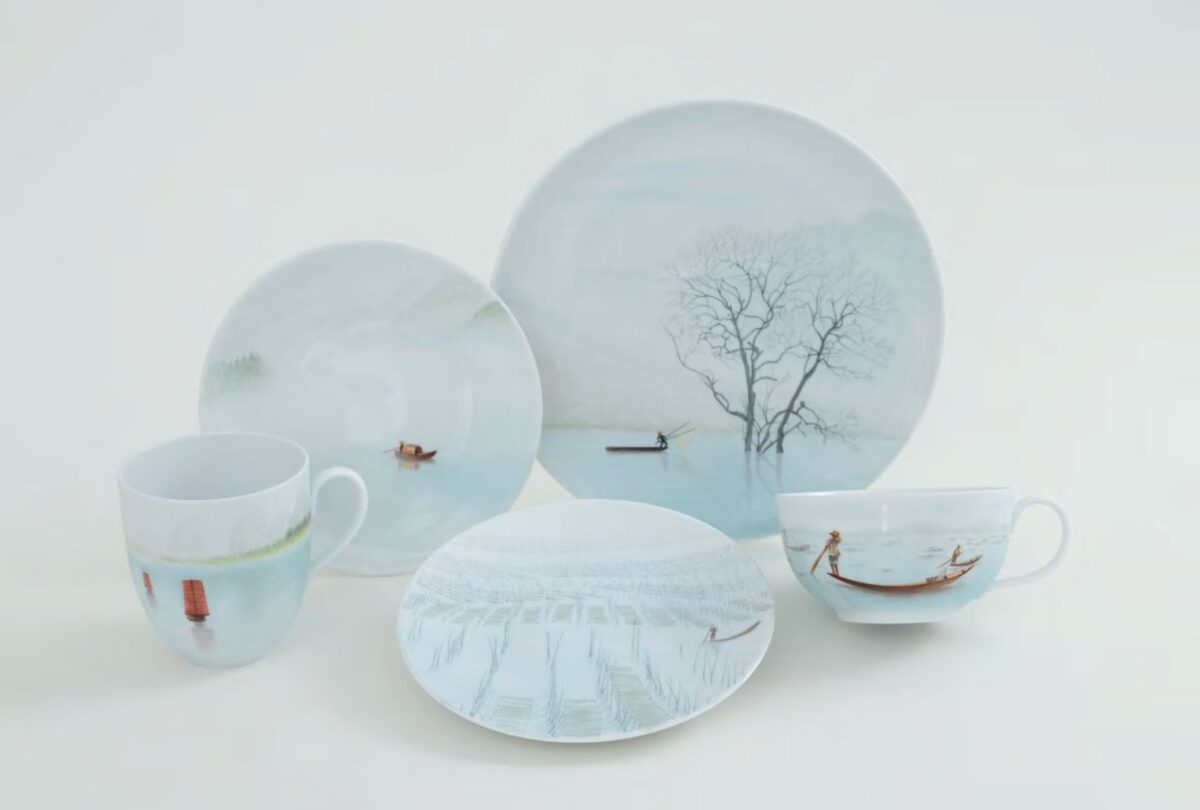 TERRA SET - Including: Limited Edition - Comes with Gift Box and Certificate of Origin 2 Dessert Plates 2 Saucers 1 Coffee Mug 1 Teacup