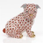 Herend Bulldog Puppy Figurine - Fishnet Colors