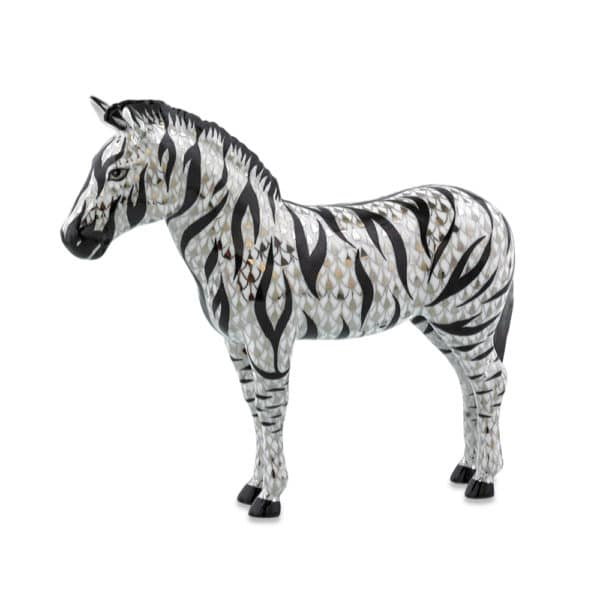 herend reserve collection zebra animal figurine
