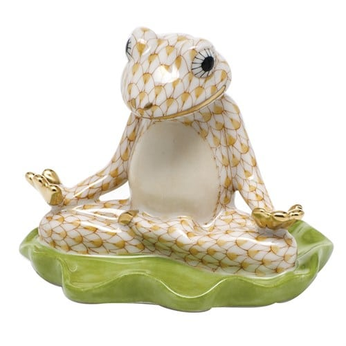 Herend Yoga Frog - Fishnet Colors