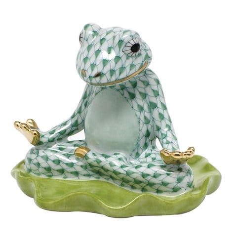 Herend Yoga Frog - Fishnet Colors