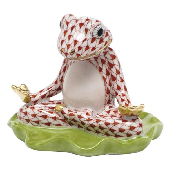 Herend Yoga Frog - Fishnet CBrown World wide shipping