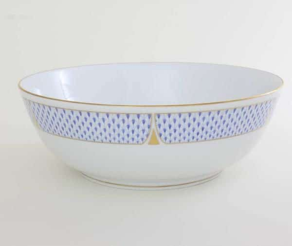 Herend Porcelain Fishnet Blue Bowl 02325-0-00 VHNKB