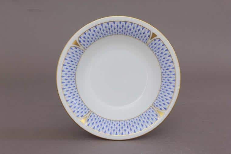 Cereal Bowl - Art Decor Fishnet Blue