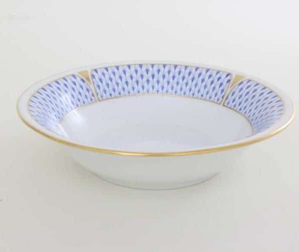 Cereal Bowl - Art Decor Fishnet Blue
