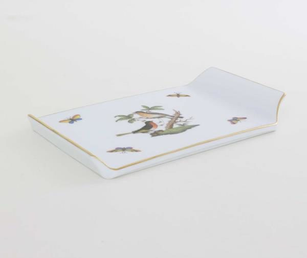 02459-0-00 RO02459-0-00 RO Herend Rothschild Birds Cheese Board