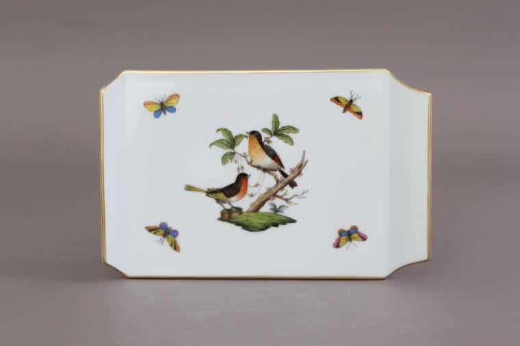 02459-0-00 RO Herend Rothschild Birds Cheese Board