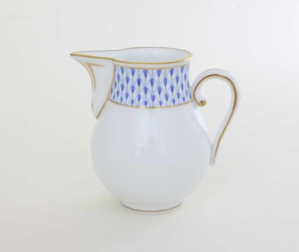 Herend Porcelain Art Deco Fishnet Blue Milkjug 02657-0-00 VHNKB