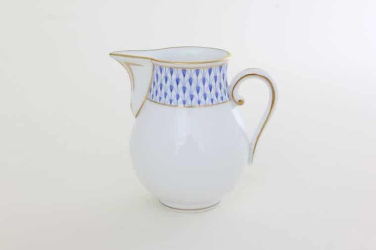 Herend Porcelain Art Deco Fishnet Blue Milkjug 02657-0-00 VHNKB