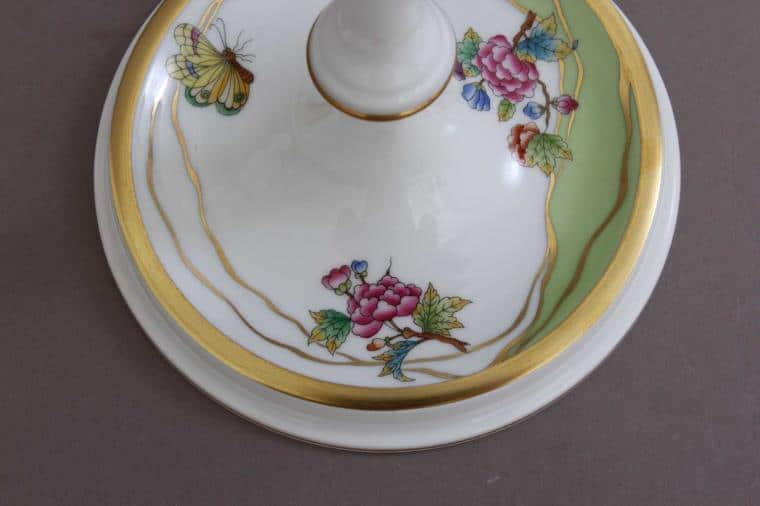 07916-0-00 VVT107916-0-00 VVT1 Candlestick - New Queen Victoria Modernized version of classical Queen Victoria decor - hand painted with butterfly and peony roses