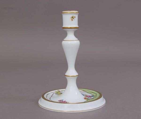 07916-0-00 VVT1 Candlestick - New Queen Victoria Modernized version of classical Queen Victoria decor - hand painted with butterfly and peony roses