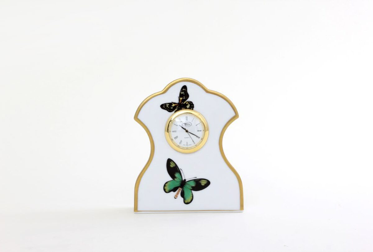08085000 PLVT-4 Clock Butterfly Herend