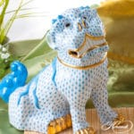 Herend-VH-blue-Foo-dog-4