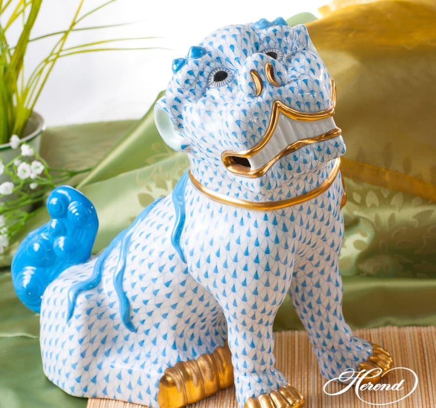 Herend-VH-blue-Foo-dog-4