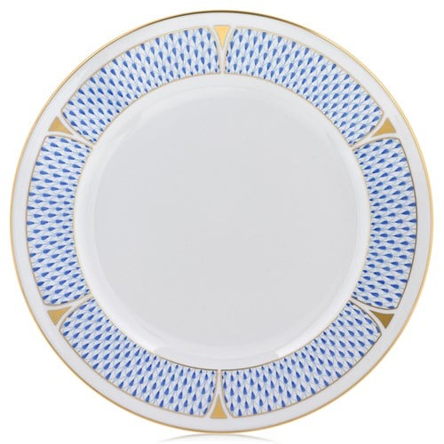 art deco herend-fishnet-charger-service-plate-blue_lg