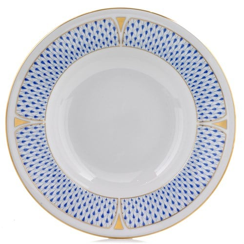 herend-fishnet-rherend-fishnet-rim-soup-bowl-blue ART DECOim-soup-bowl-blue_lg