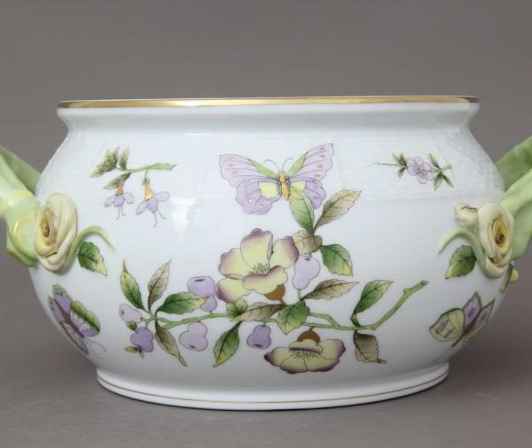 Royal Garden by Herend Soup Tureen Butterfly Knob 4 QT William & Catherine