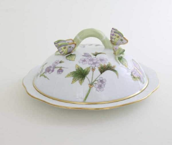 00075-0-17 EVICT1 Butter Dish Royal Garden Buttrfly Knob