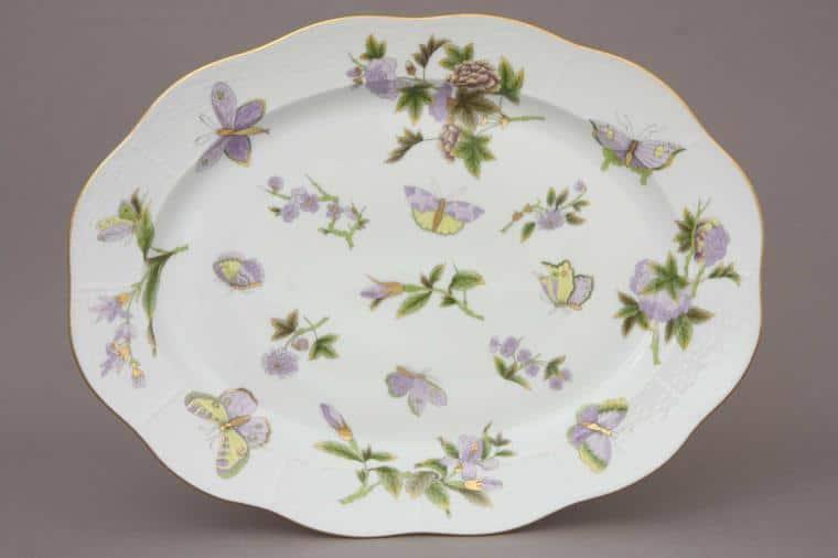 00101-0-00 EVICT1 Royal Garden Herend Porcelain Oval Dish LArge Turkey Platter