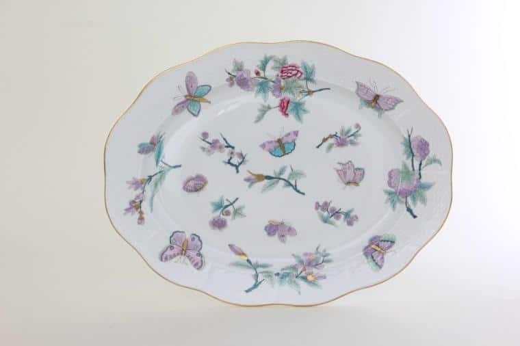 00101-0-00 EVICT2 Royal Garden Herend Porcelain Oval Dish LArge Turkey Platter
