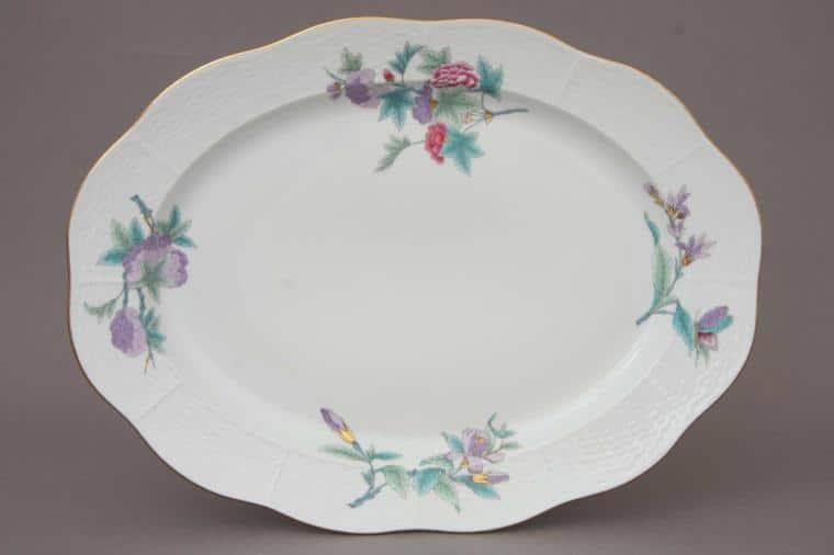 00101-0-00 EVICTF2 00101-0-00 EVICT2 Royal Garden Herend Porcelain Oval Dish LArge Turkey Platter