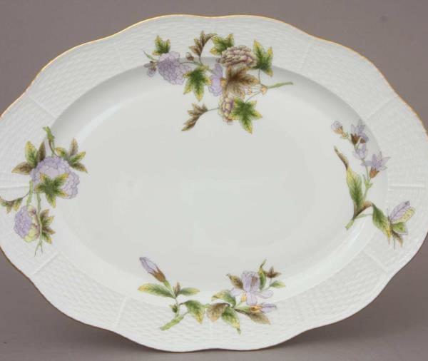 00102-0-00 EVICTF1 Medium Oval Dish Herend FIne China