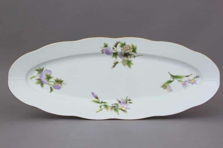00142-0-00 EVICTF1 FIsh Dish Royal Garden Flower