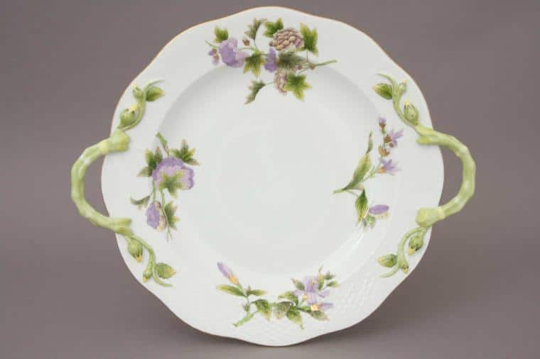 00172-0-00 EVICTF1 Royal Garden Flower Cake Plate