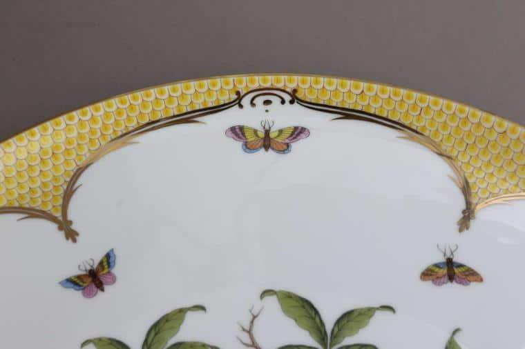 Rothschild Birds Yellow Fishnet Round Tray02439-0-00 RO-EJ