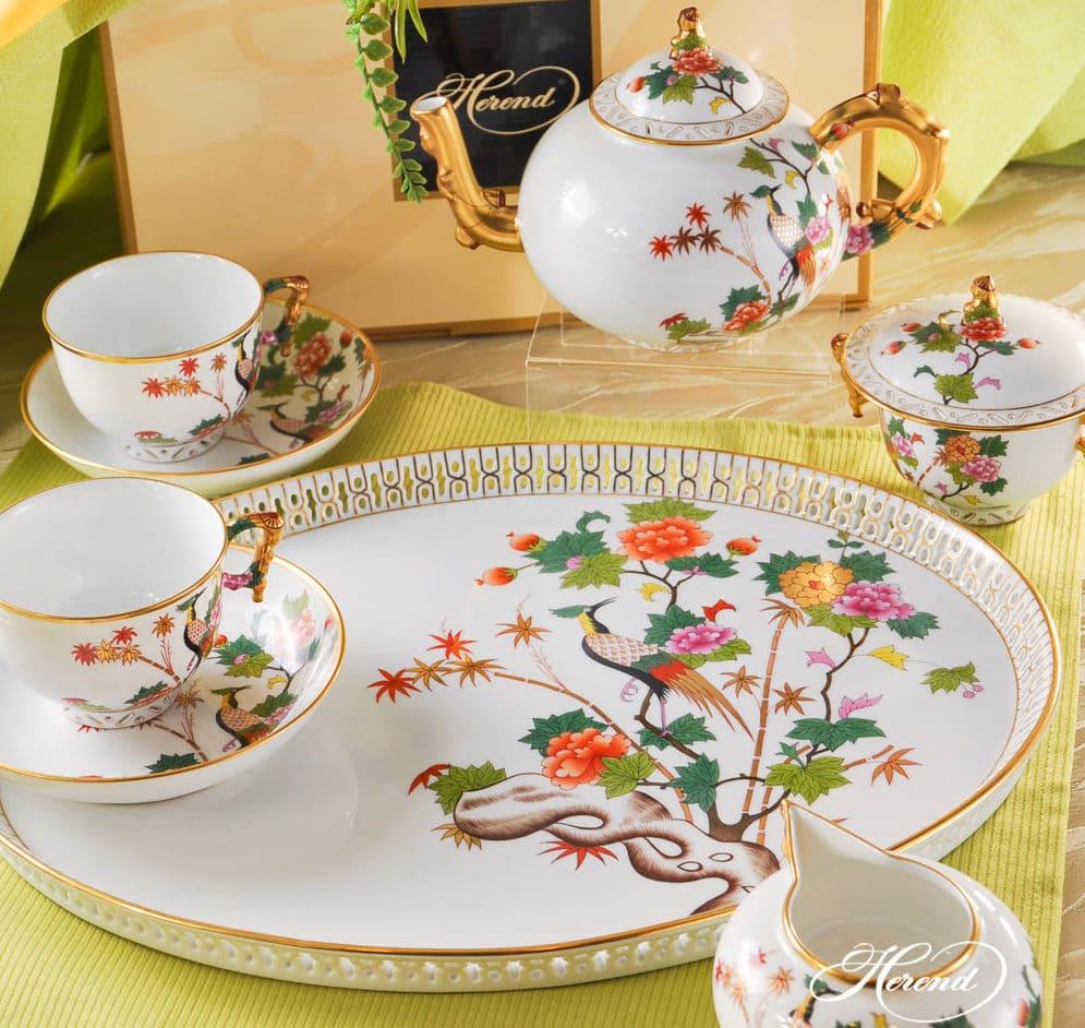 Herend GRUE Matserpiece Tea Set for 2 Masterpiece