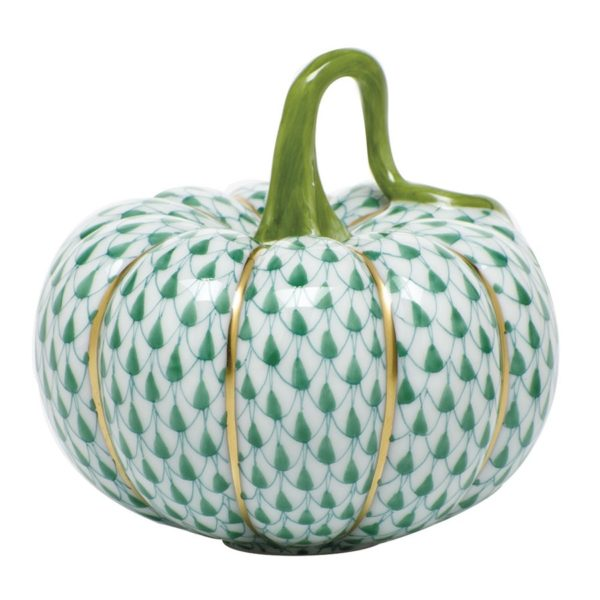 Herend Cinderella Pumpkin Figurine Fishnet Green